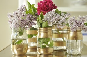 Fancy DIY Vase and Mason Jar Centerpieces